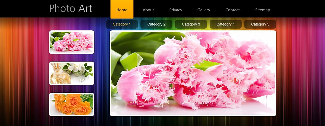 Photo Art Free HTML5 Template Portfolio