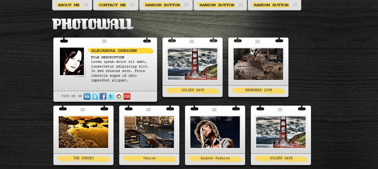 PhotoWall Free Template