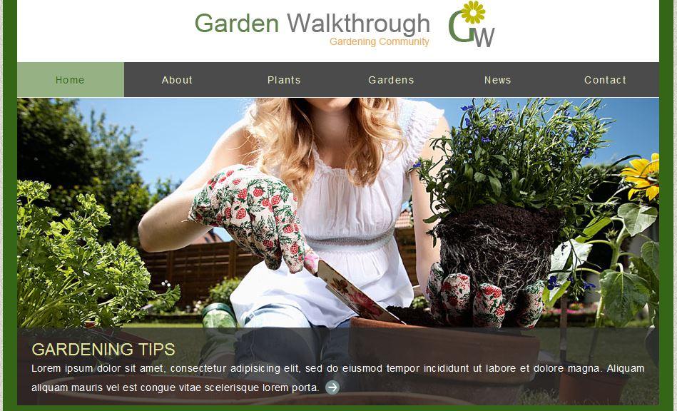 Garden Walkthrough Free Template