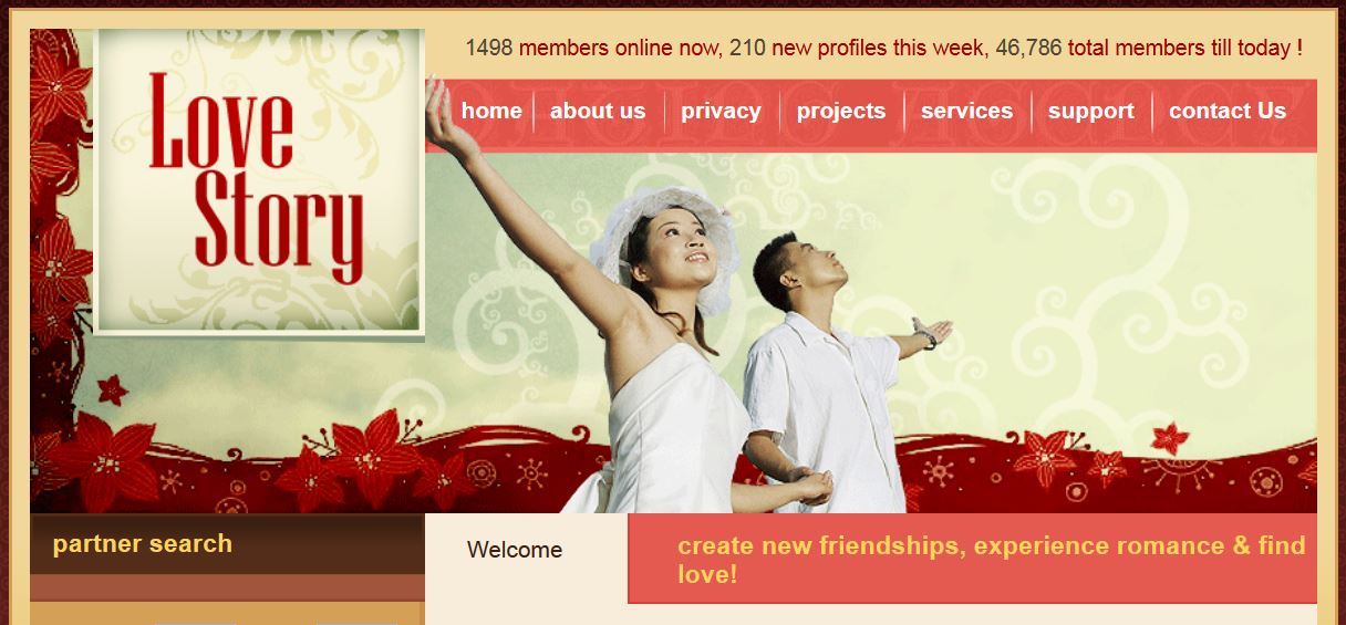 Love Story Free CSS Template