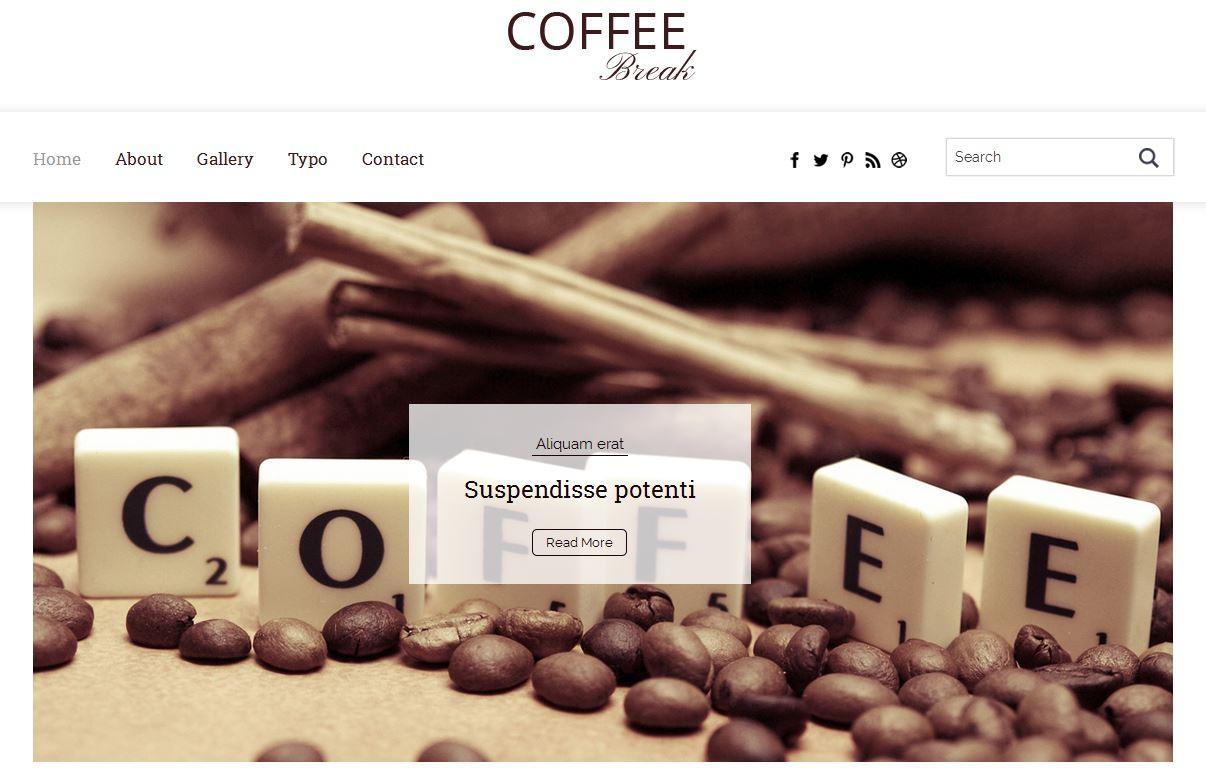 Coffee Break Blogging Bootstrap