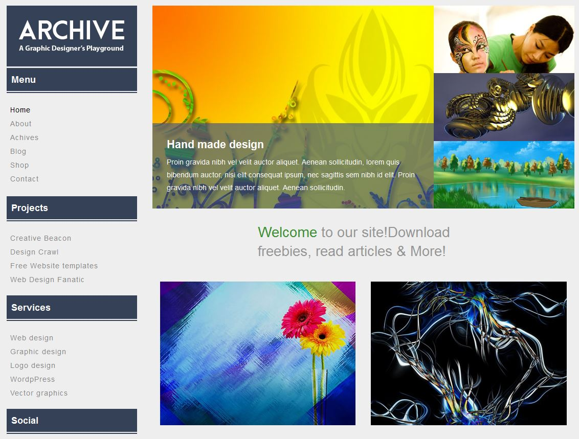 Archive a Blogging Flat Bootstrap Responsive