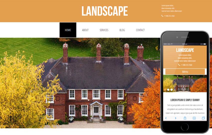 Landscape Html5 for Real Estate