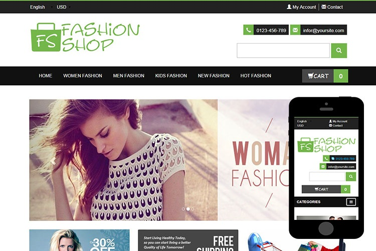 Fashion Shop - Free Bootstrap Themes