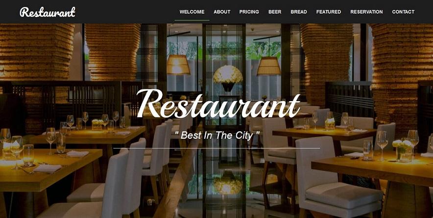 Food Restaurant Responsive Templates