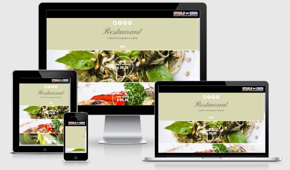 Restaurant Classic European Cuisine - A Bootstrap based free restaurant template