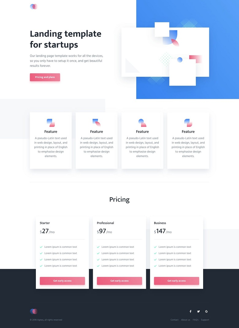 Agnes One Page HTML Template