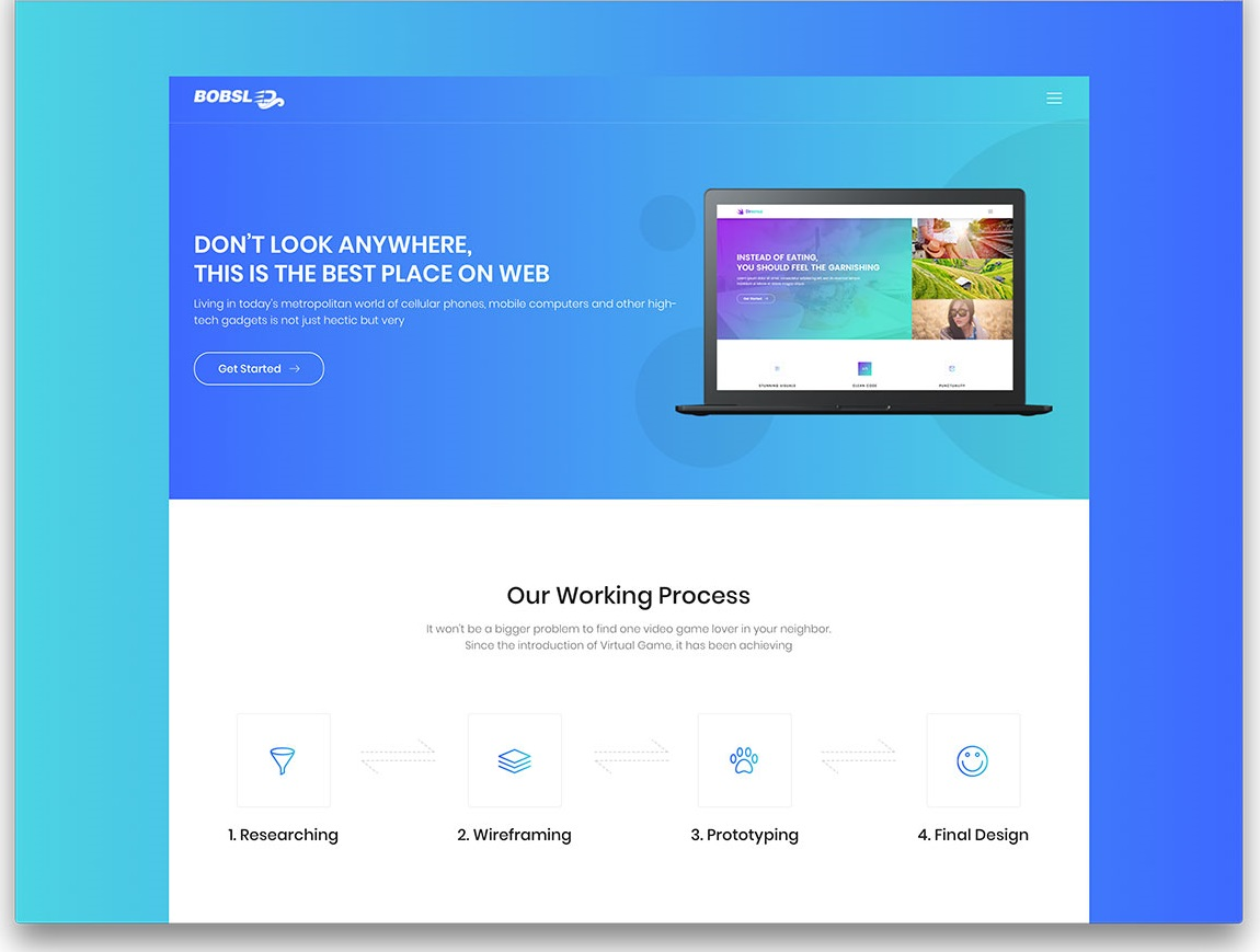 Bobsled creative website template