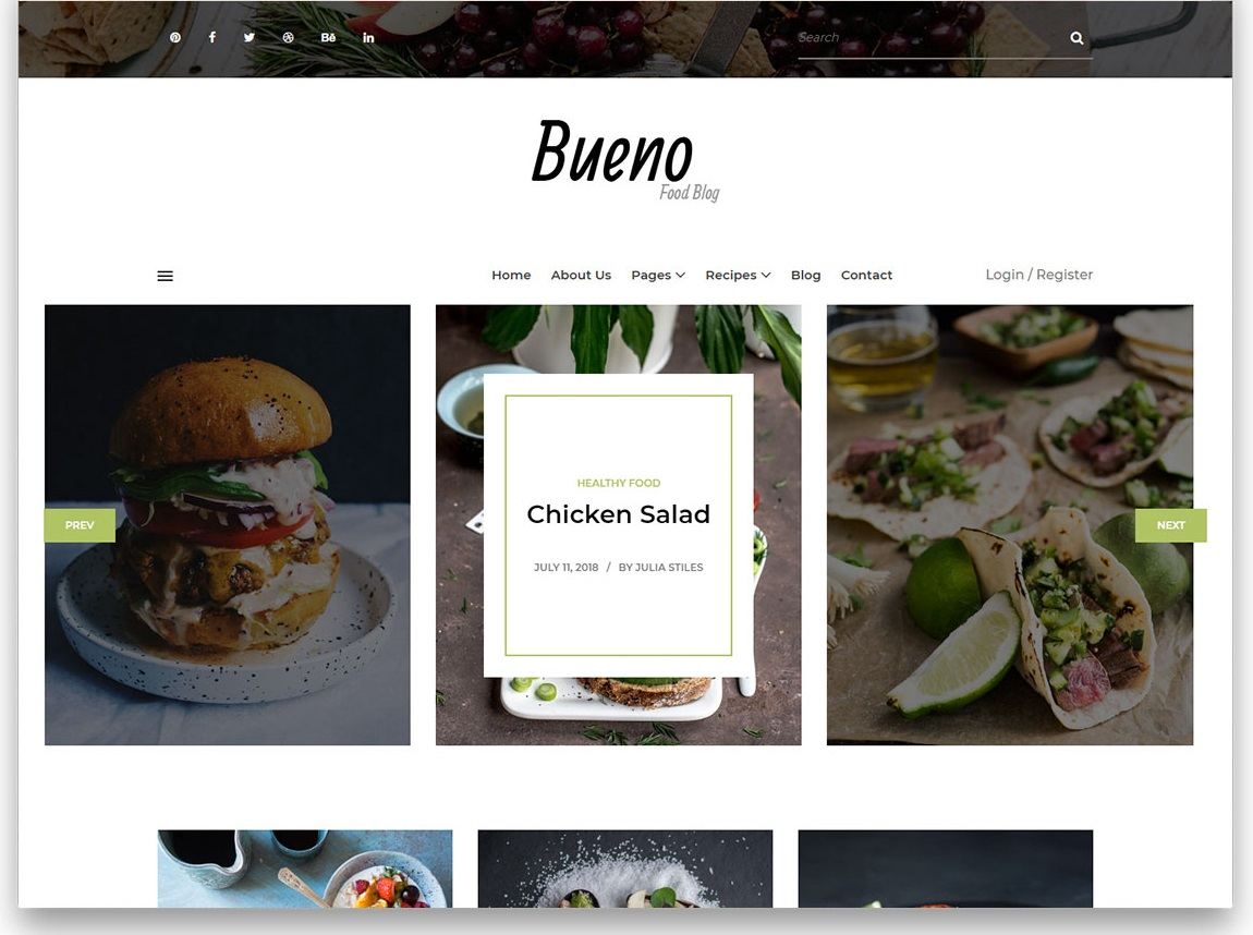 Bueno Food Blog free template