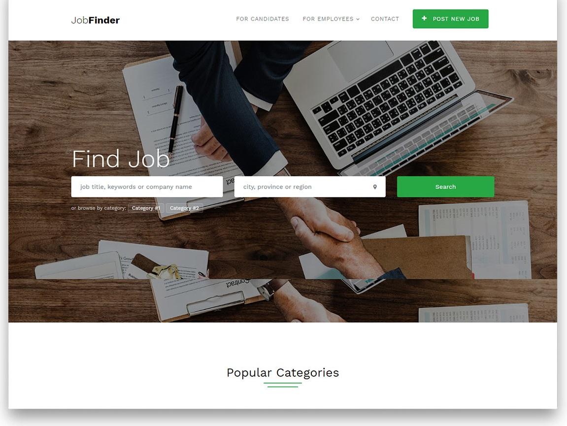 Jobfinder free template