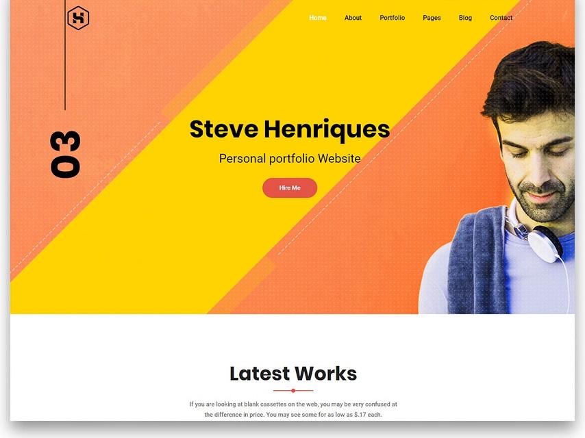 Steve free template