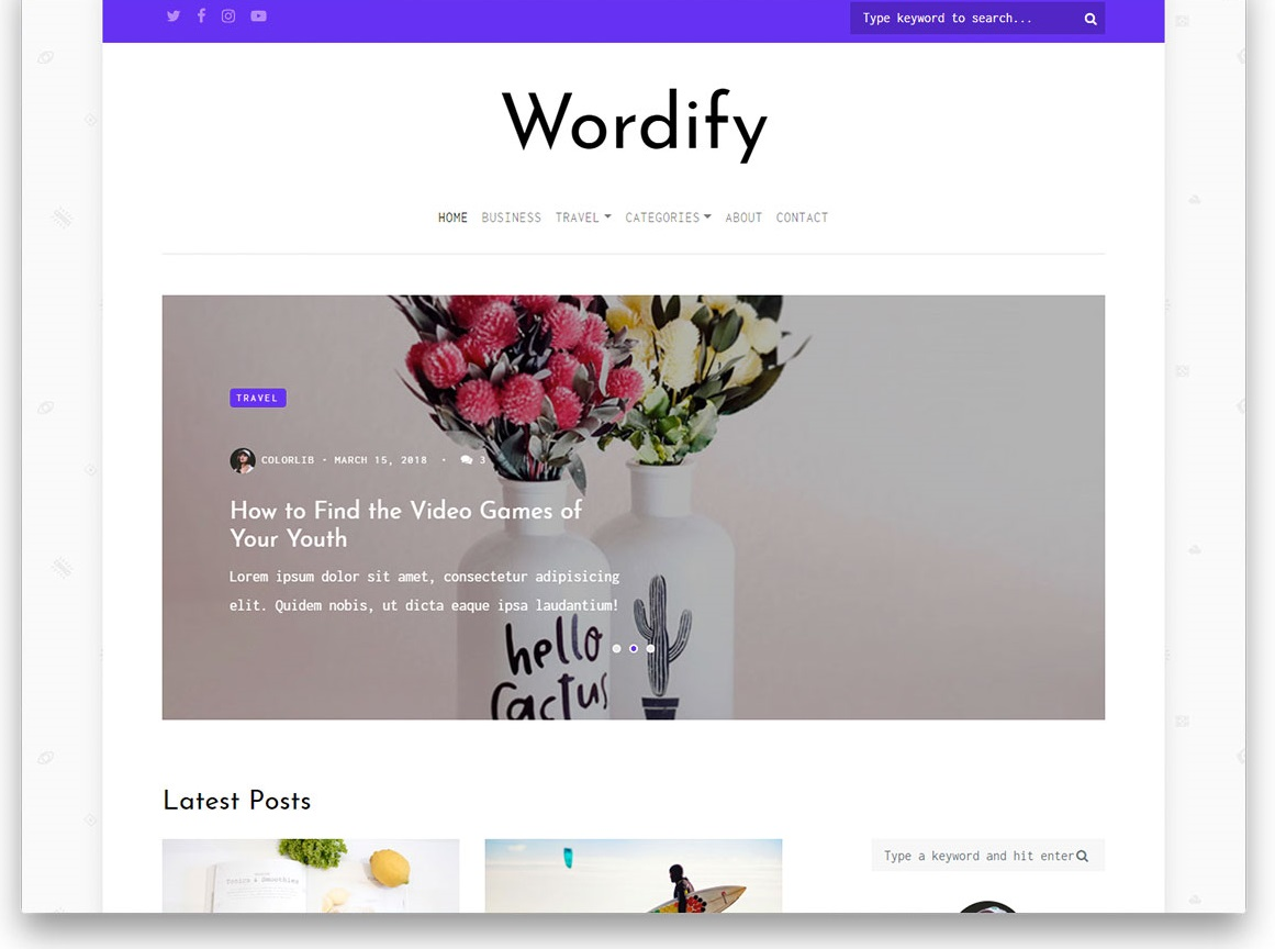 Wordify free template