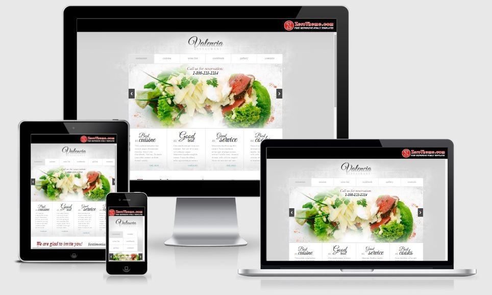 Valencia - A Bootstrap based free restaurant template
