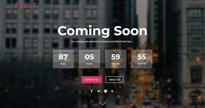 Bolt One Page HTML Template