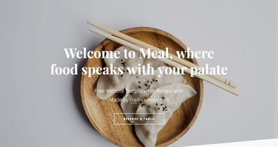 Meal One Page HTML Template