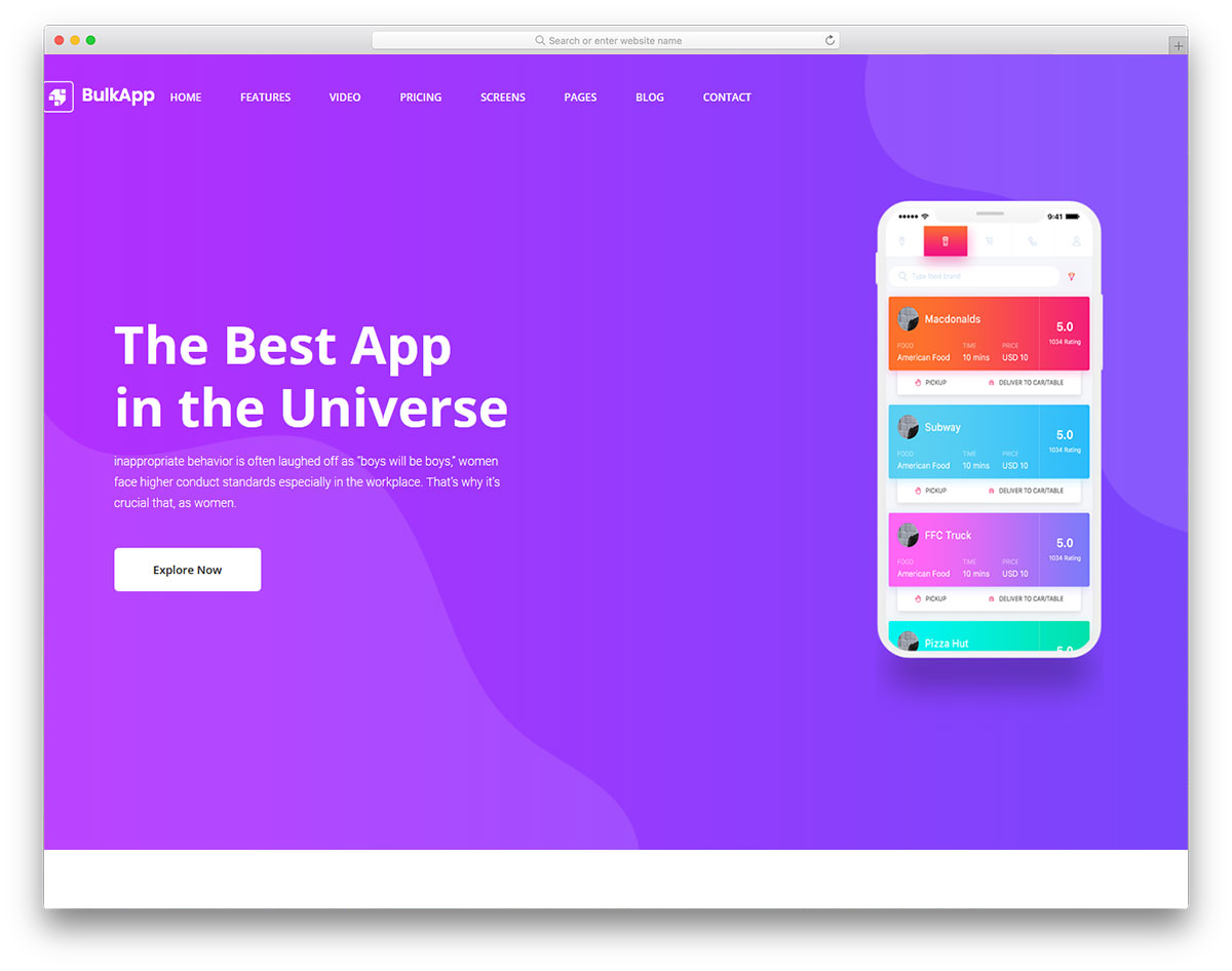 Bulkapp free template