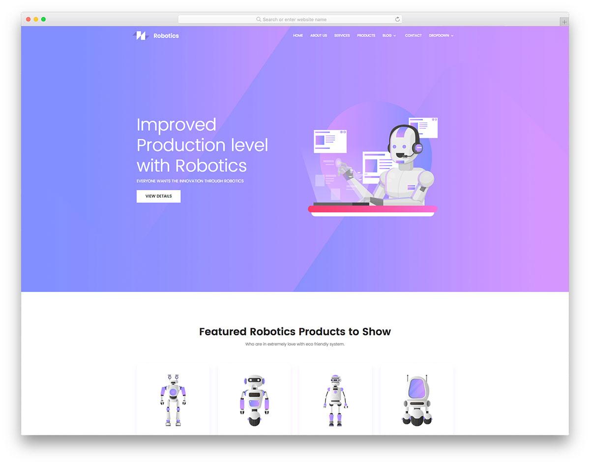 Robotics free template