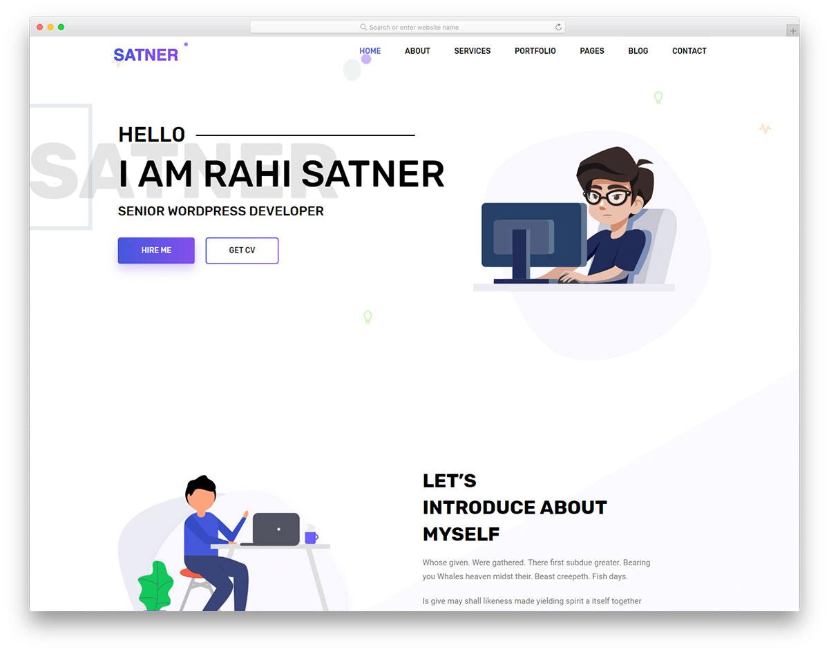 Satner Free Website Templates