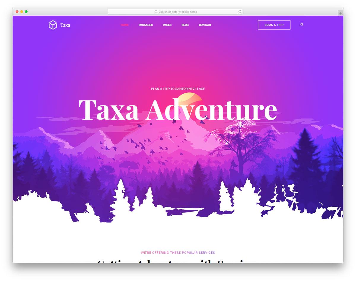 Taxa Free Website Templates