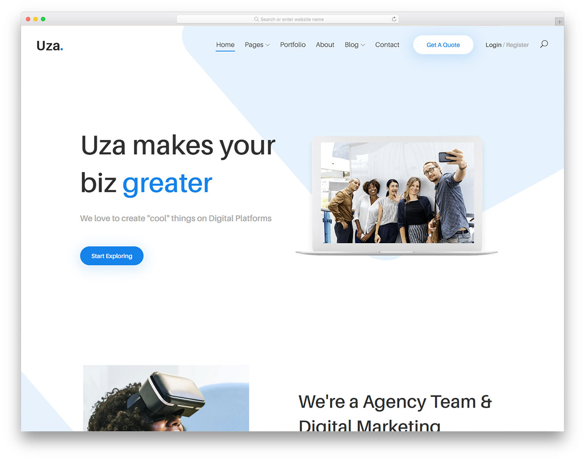 Uza Free Website Templates