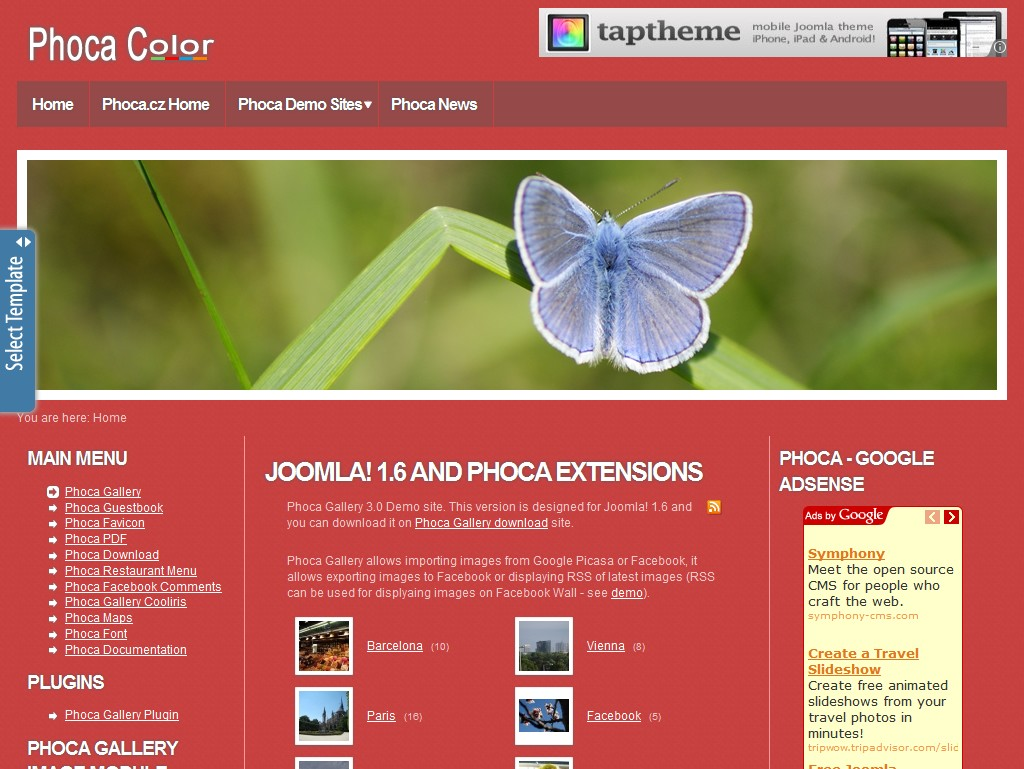 Phoca Color - Joomla 1.6