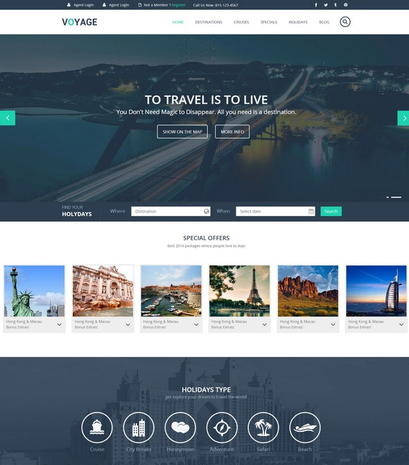 Voyage Html5 Template Travel