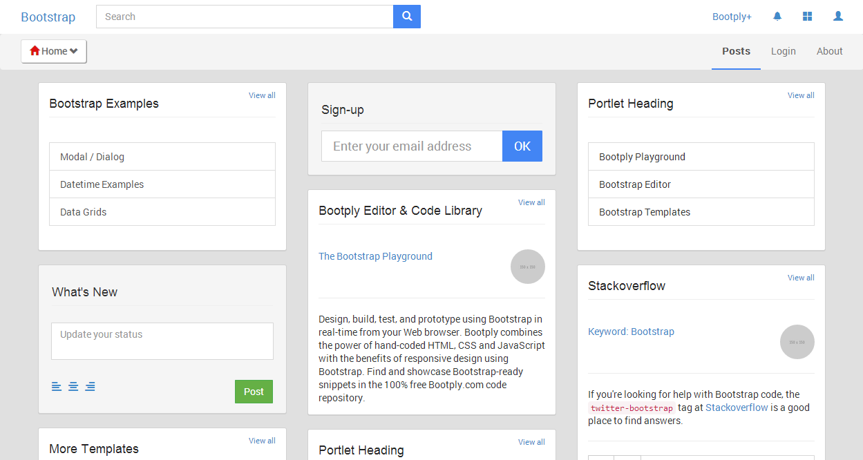 Google Plus Bootstrap
