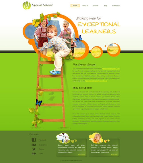 Special School Web Template