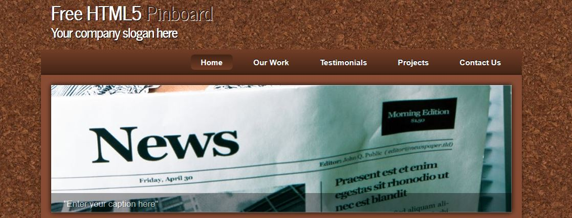 Free HTML5 Pinboard