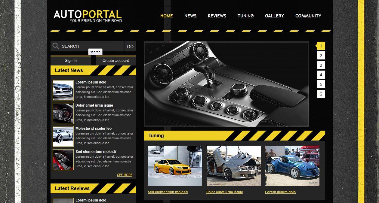Auto Portal Template