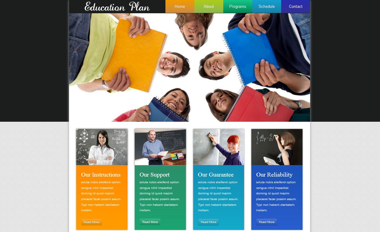 Education Plan Html5 Responsive