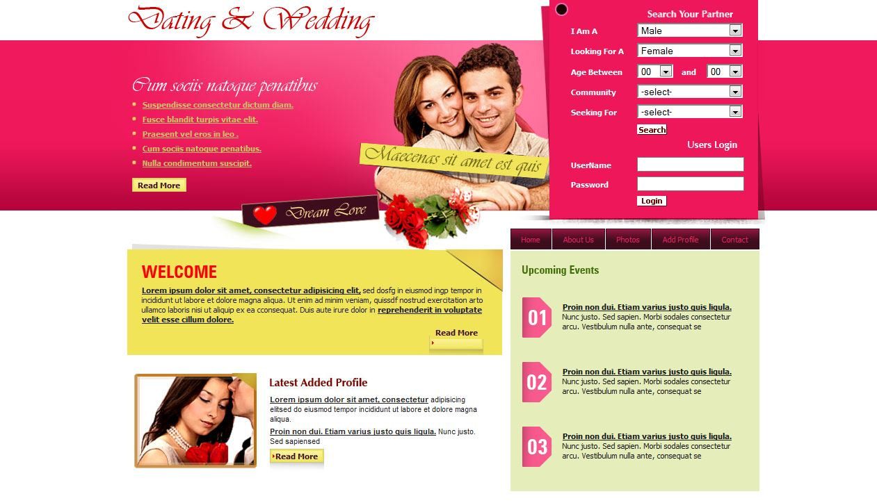 Dating & Wedding