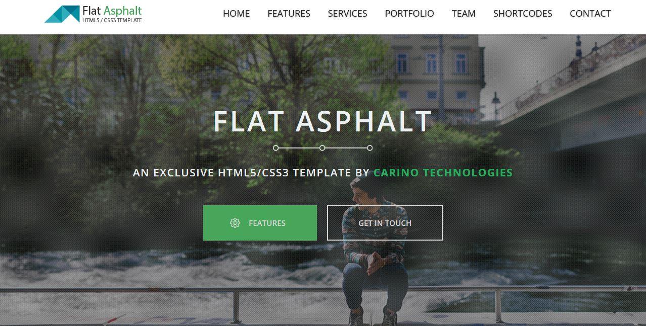 Flat Asphalt HTML 5 Template