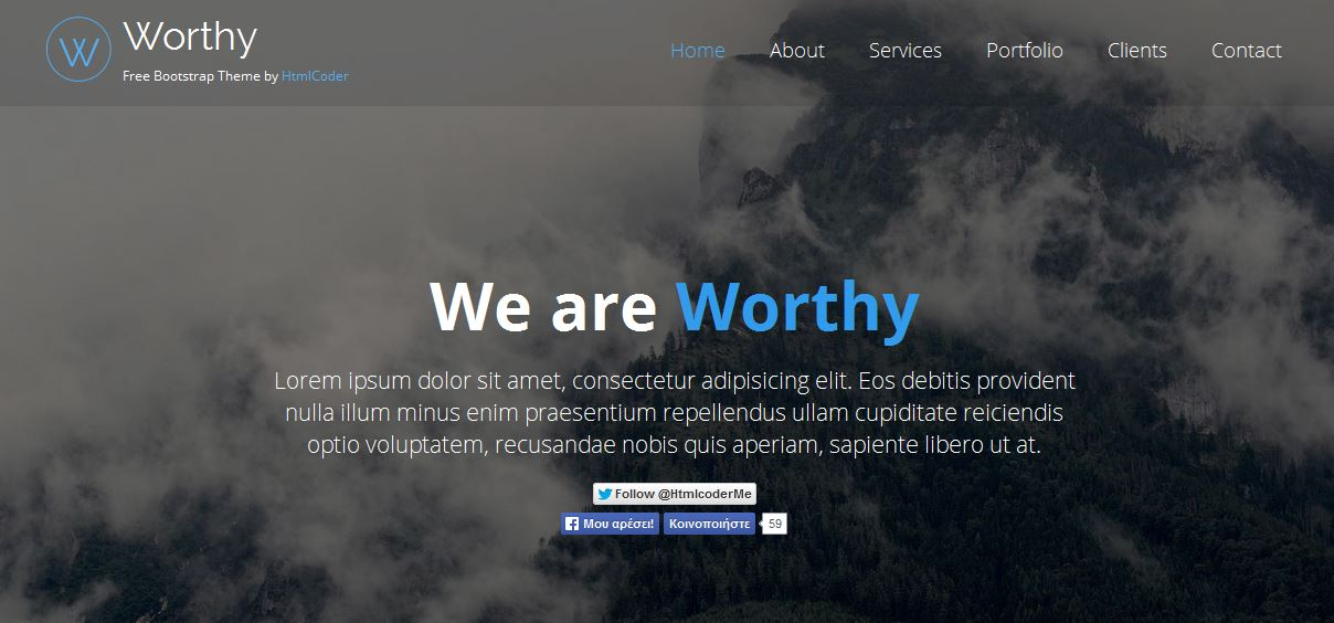 Worthy Free Bootstrap Template