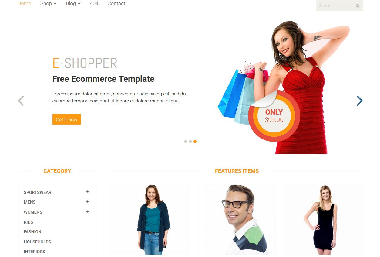 e-Shopper Responsive Design