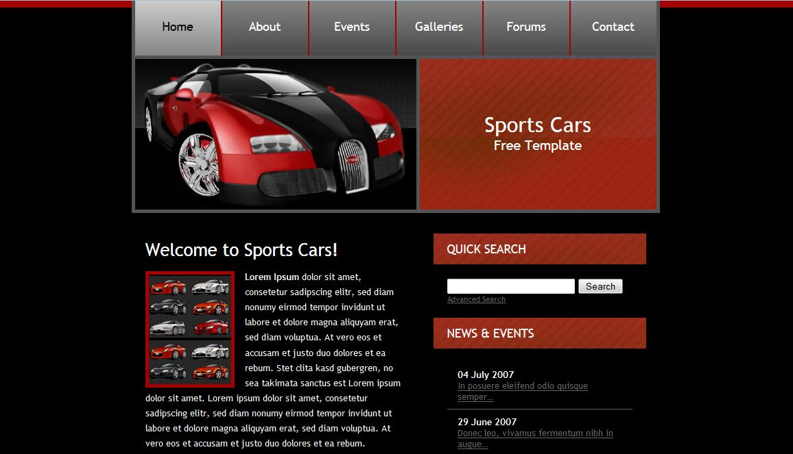 Sports car Free Templates