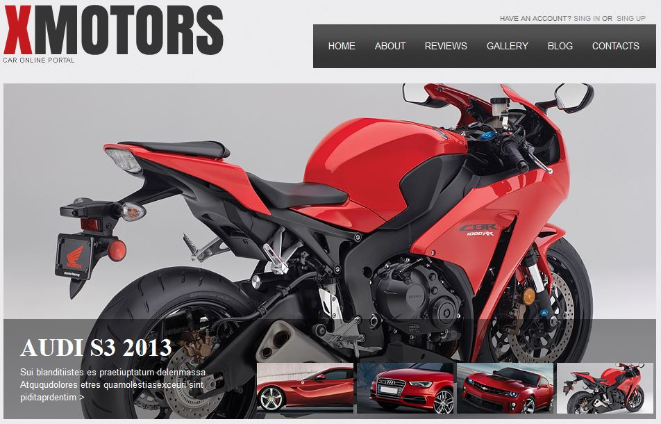 X Motors free templates