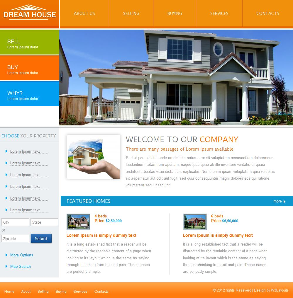 Dream House Templates Html5