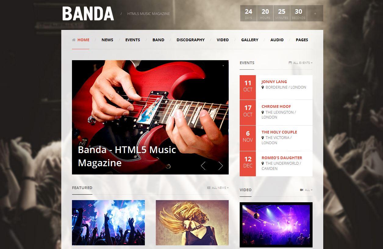 Banda HTML5 Music Magazine