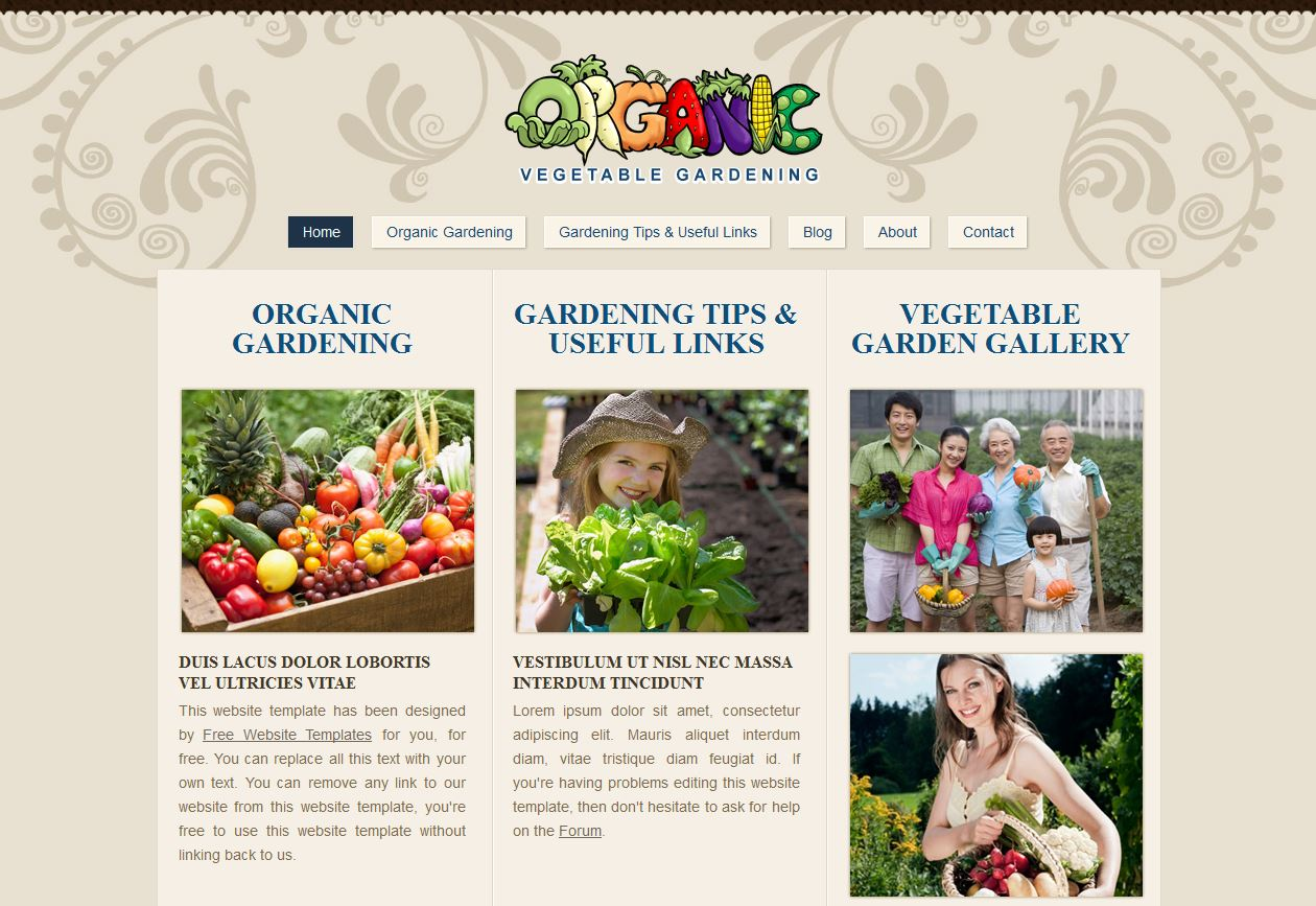 Gardening Free Website Template