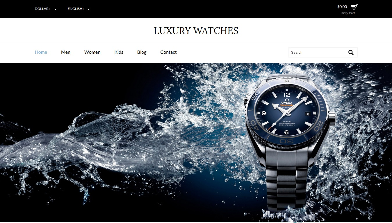 Luxury Watches a Flat Ecommerce Bootstrap Responsive