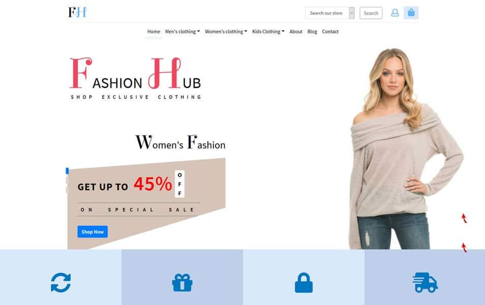 Fashion hub web Free