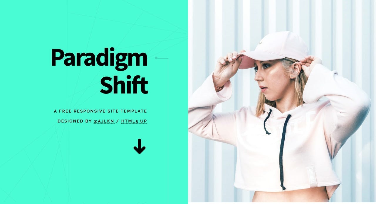 Paradigm Shift One Page HTML Template