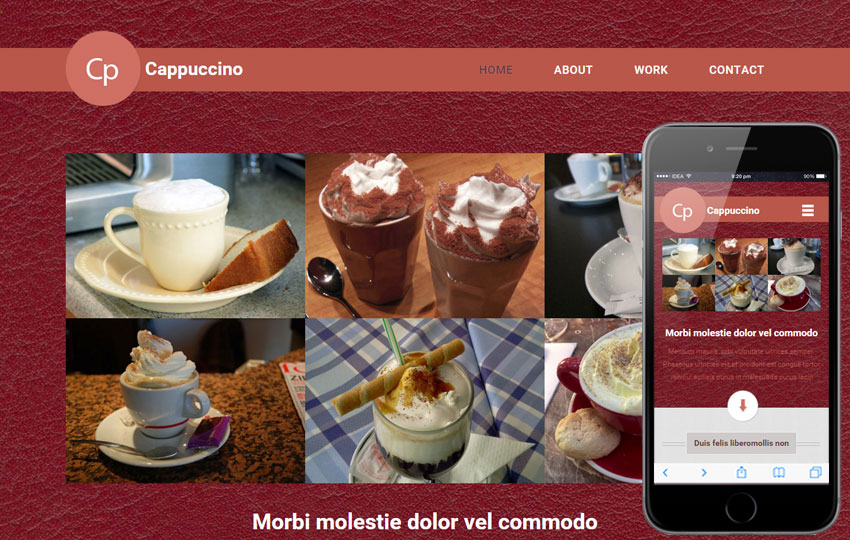 Cappuccino - A Bootstrap based free restaurant template