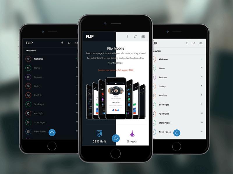 Flip 3D themes SEO PhoneGap & Cordova Mobile App