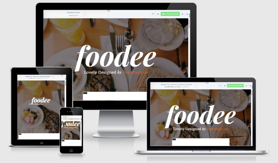 Foodee free restaurant bootstrap template