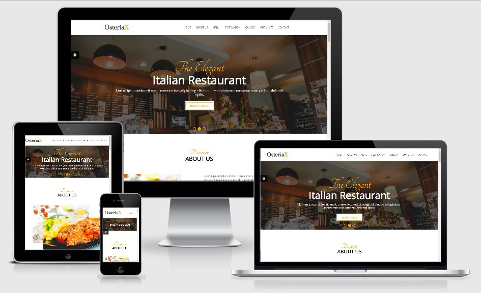 OsteriaX Bootstrap based free restaurant template
