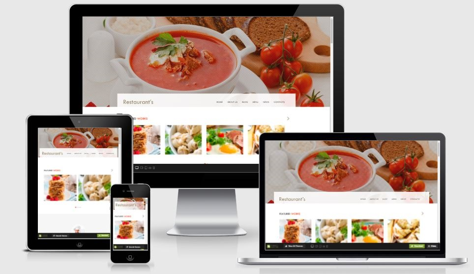 Spicy restaurants - A Bootstrap based free restaurant template