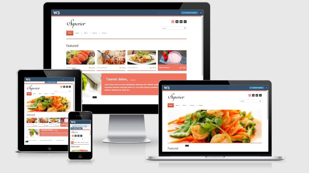 The Superior - A Bootstrap based free restaurant template