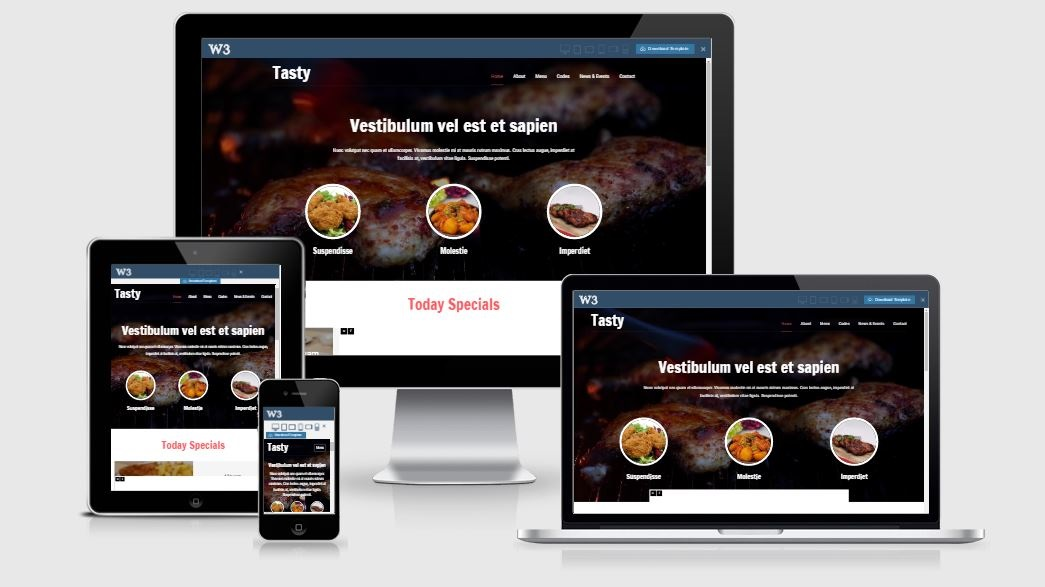 Tasty - A Bootstrap based free restaurant template